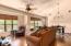 Open Floor plan with custom window coverings