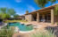Private pebble tec pool and long covered patio for entertaining!