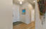 Entry and Bedroom Hall; New Wood-Look Tile