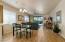 Great Room; New Wood-Look Tile