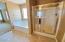 Separate shower/tub in master bathroom