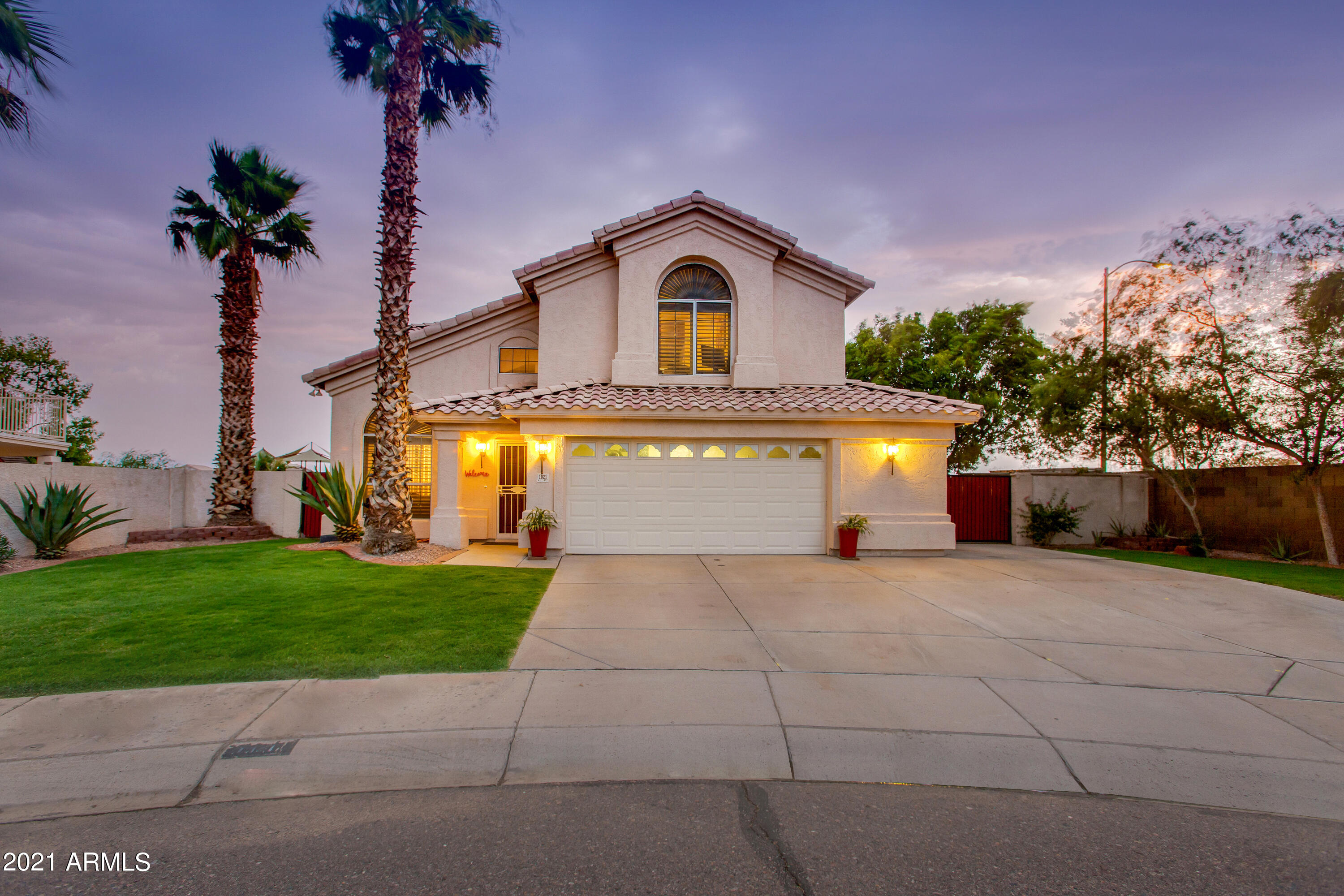 This lovingly maintained home is nestled on a quiet cul-de-sac lot in a highly desired community near Moon Valley. With easy access to popular hiking trails, Loop 101 and I-17 freeways, and all of the shopping and dining at Bell Towne Plaza, this prime location cannot be beat. Inside, you'll find an open concept with two living spaces, eat-in kitchen with granite countertops, three bedrooms, and a spacious office/loft with access to an oversized balcony overlooking the mountains. The backyard is a beautiful oasis with lush green grass, PebbleTec pool and spa, outdoor shower, a gazebo with built-in BBQ grill, fruit trees, garden beds, and an RV gate. Enjoy the convenience of having Moonlight mini park just around the corner! Please see the full list of owner upgrades in the documents tab.