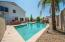 Large Pool with built in Shelf for lawn shairs