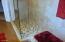Close up for customer tile work in shower