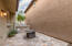 Private courtyard with travertine pavers