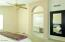 Master bathroom with arched entry