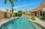South facing back yard is very private and has beautiful pool