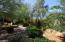 Beautifully landscaped backyard.
