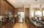 Custom cabinets, undermount lighting and granite countertops.