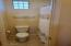 Tub and Toilet with separate Door.