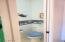 Powder room off of the laundry room