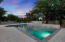 Sparkling pool with 3 fountain features!
