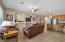 Family Room with Built In Niches