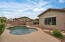 Professionally landscaped backyard