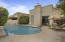 This home has it's own private pool as well as a the neighborhood offers a large pool and spa.