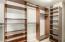 Built-in organizer at master bedroom closet