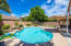 Sparkling, Kidney Shape Pool with Natural Rock Water Feature.