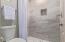 Remodeled walk-in shower in Casita