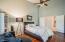 Master bedroom with double door entry