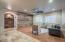 oversized living room with custom wood wall