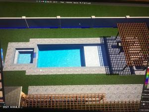Baja Step pool, will have resort style backyard, 10 person jacuzzi, built in BBQ!
