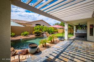 1737 E Kramer Arbor setting Slate patio overlooking pool