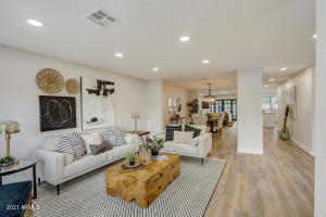 """The home has been extensively remodeled to allow for a good """"flow"""" throughout the living and dining areas"""