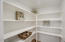 Very large walk in pantry provides tons of storage space