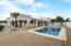 Beautiful backyard with large covered patio, sparkling Pebble Tec pool and all new pool equipment