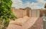 Side yard perfect for a garden & recently installed storage shed