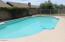 Large play pool with kiddie-fencing