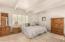 Large master bedroom. Plenty of room for a king size bed.