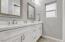 Double sink, 1 & 2nd bedroom bath.