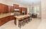 Kitchen with Large Slab Granite Island, Breakfast Bar
