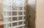 Owner's Bath Glass Block Walk-In Shower and Glass Door