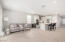 Open kitchen, living, dining floorpan