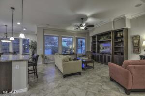 Spacious Great Room Floor Plan with Built-in Entertainment Wall