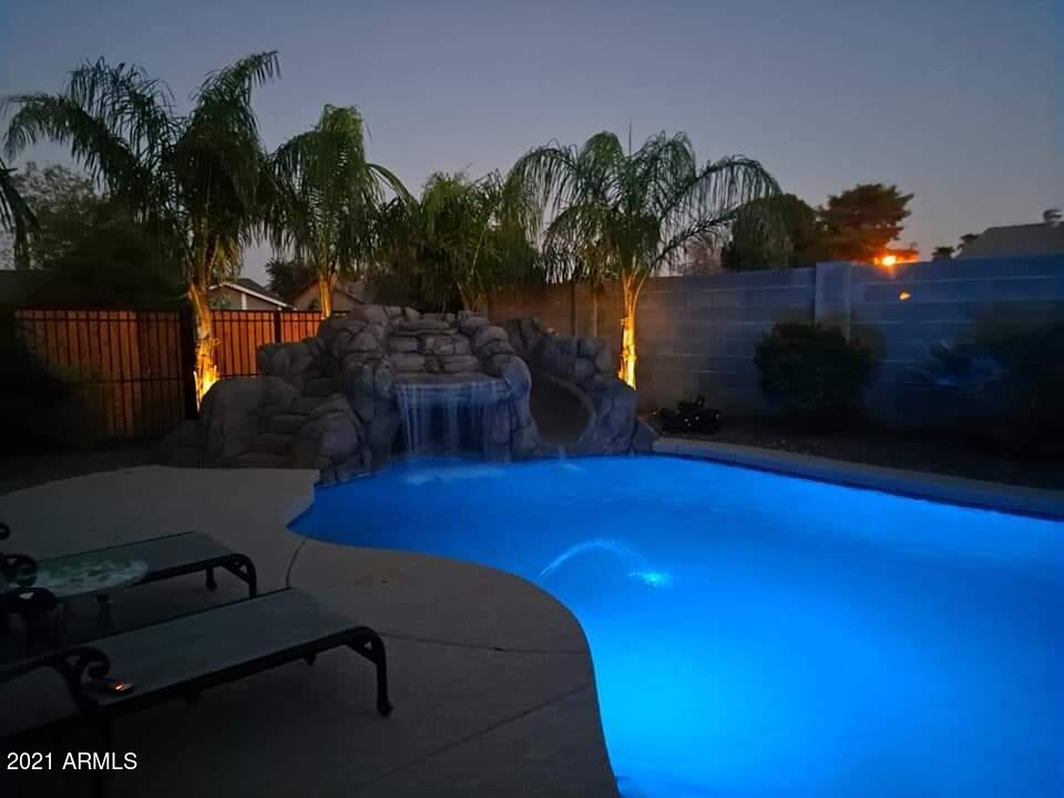 Priced Reduction. Relax poolside in the resort style backyard. This furnished home stands out from the rest. Original owner has put a lot of love and tlc into this newly updated and very well maintained home. Corner lot gives extra privacy. The location is prime, being within close proximity of the freeway, shopping and schools.