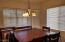 Large dining room/eat in kitchen.