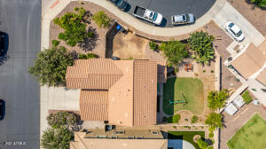Top view with massive back yard