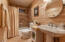 Full Bathroom with cast iron tub.