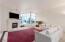 Great room floor plan with NW exposure