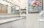 Master Bath has dual sinks and quartz countertops