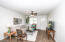 Open Family Room and Living Room, New porcelain tile throughout