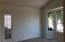 Master bedroom with new carpet and bay window