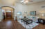 arched doorways, vaulted ceilings & skylights make this room special