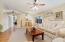 Bright living & dining room.