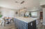 Quartz Countertop and modern kitchen island with endless storage.