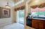 Kitchen sliding door to covered patio
