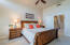 Nice size master bedroom with ceiling fan